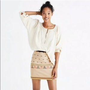 (NWT) Madewell Gamine Jacquard Mini Skirt